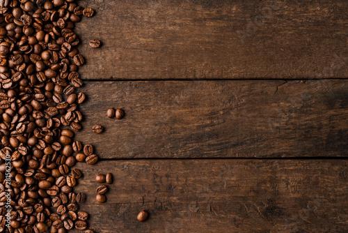 Obraz na plátne Roasted coffee beans background.