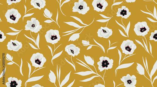 Fotografija trendy seamless floral pattern