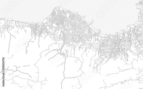Valokuva Carrefour, Ouest, Haiti, bright outlined vector map