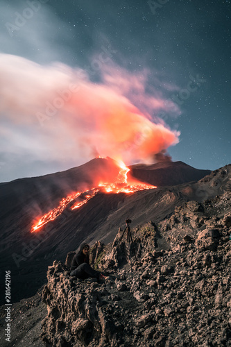 Slika na platnu Spectacular eruption of the Volcano Etna