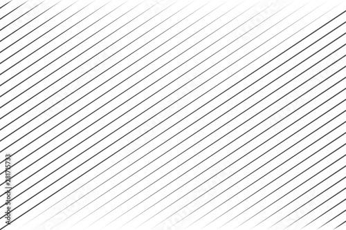 Abstract black blend lines with oblique stripe on white background vector illust Fototapeta