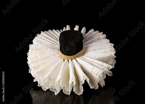 Fotografering Elizabethan lace ruff collar