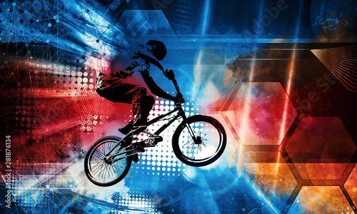 Foto Sport illustration of bmx rider