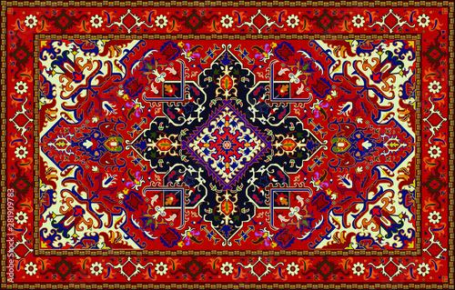 Wallpaper Mural Persian carpet original design, tribal vector texture