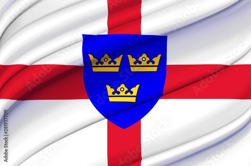 Fotografia, Obraz East Anglia waving flag illustration.
