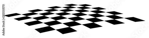 Fotografía Slightly curved checkerboard EPS10 vector illustration.