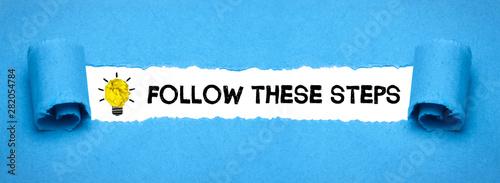 Valokuva Follow these steps