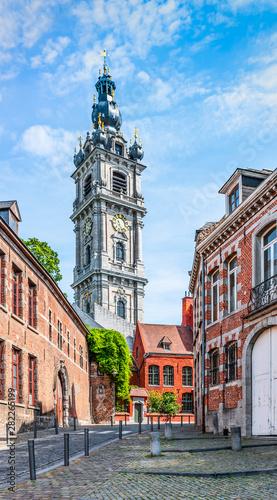 Foto Belfry tower in Mons, Belgium.