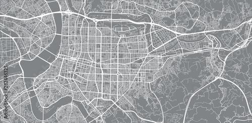 Fototapeta Urban vector city map of Taipei, China