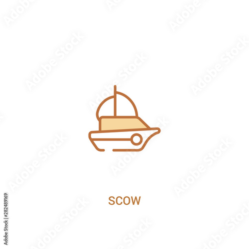 Fototapeta scow concept 2 colored icon