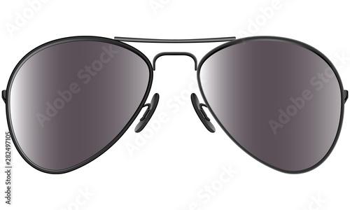 Fotografía Sunglasses in metal frame aviator model