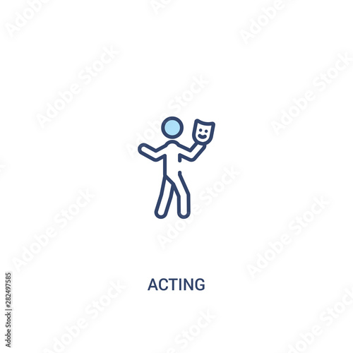Foto acting concept 2 colored icon