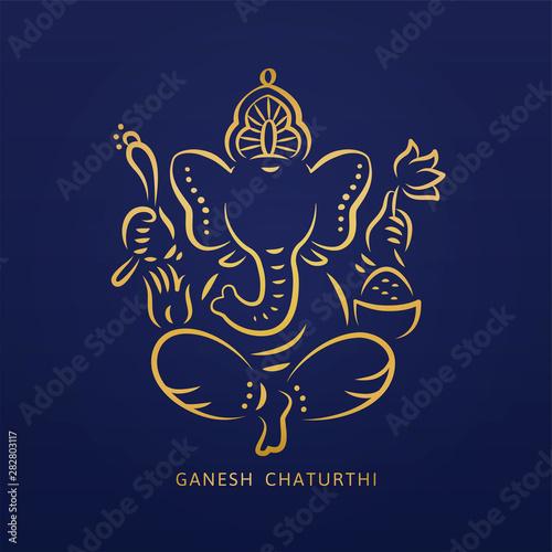 Wallpaper Mural Ganesh chaturthi design