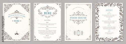Fotografia Wedding and restaurant menu.