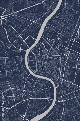 Fotografie, Obraz map of the city of Bangkok, Thailand