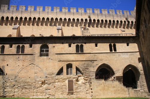 Obraz na plátne les remparts du palais des papes à Avignon
