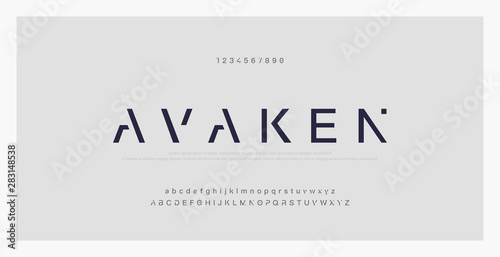 Carta da parati Abstract minimal modern alphabet fonts