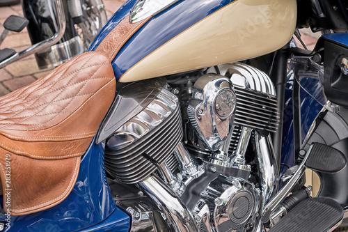 Detailaufnahme eines Motors Fototapeta