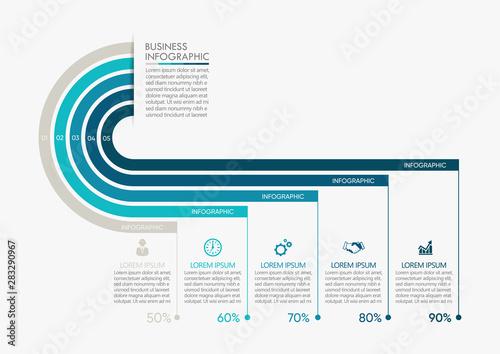 Carta da parati Business data visualization