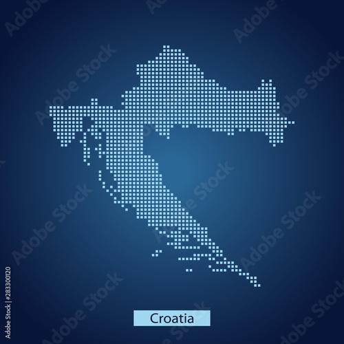 Wallpaper Mural map of Croatia