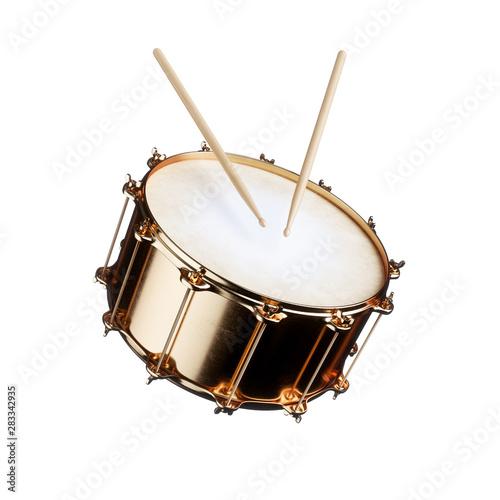 Foto Golden drum isolated
