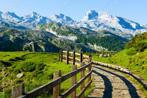 Mountain landscape of Picos de Europa, Spain