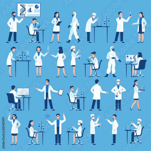 Scientists characters Fototapet