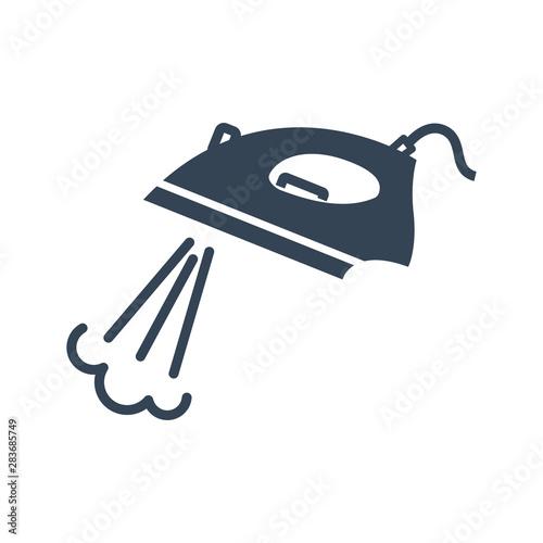 Obraz na plátně black icon electric iron with steam