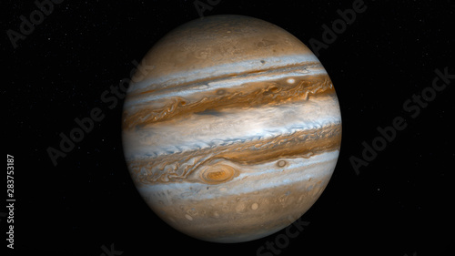Fotografie, Obraz the planet jupiter (3d rendering,8k