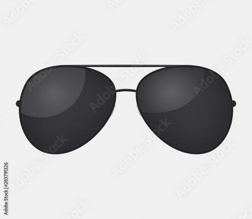 Fotografija Aviator police isolated sunglasses .