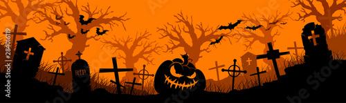 Canvastavla Happy Halloween banner