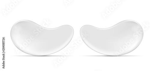 Obraz na płótnie Vector white eye gel patches