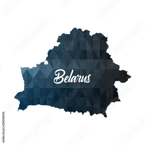 Wallpaper Mural Map of Belarus. Geometric polygon map