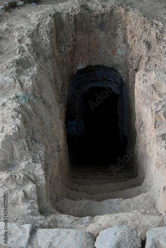 Canvas-taulu Ethiopia: Axum, rock-hewn burial chamber (not in Stelae Field)