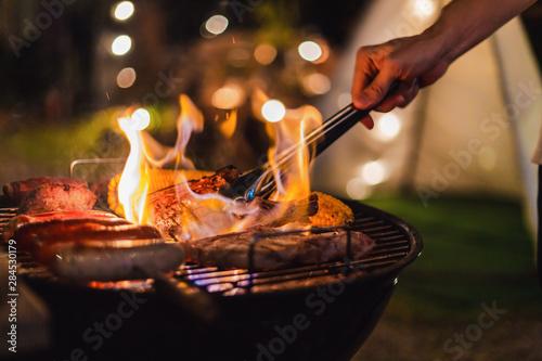 Foto barbecue camping