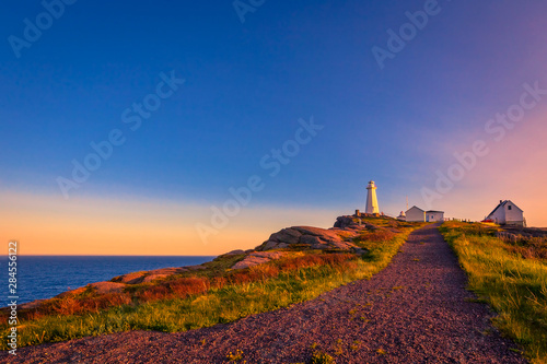 Photo View of Cape Spear Lighthouse National Historic Site at Newfoundland Canada duri