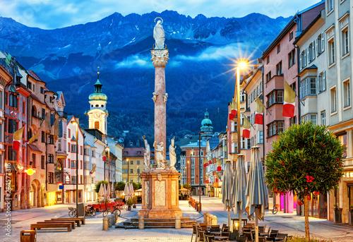 Canvas Print Innsbruck Old town, Tyrol, Austria
