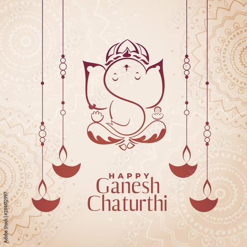 hindu culture festival of ganesh chaturthi background фототапет