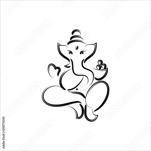 Canvas Print Ganesha The Lord Of Wisdom Design