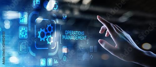 Fotografie, Obraz Operation management Business process control optimisation industrial technology concept