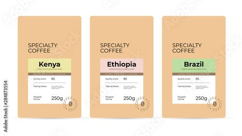 Slika na platnu Set of labels for hand roasted Specialty Coffee