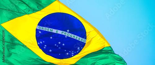 Fotografia Close up da bandeira do Brasil