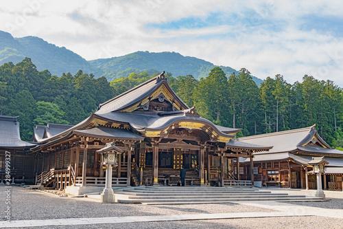 新潟 弥彦神社 拝殿 Fototapeta