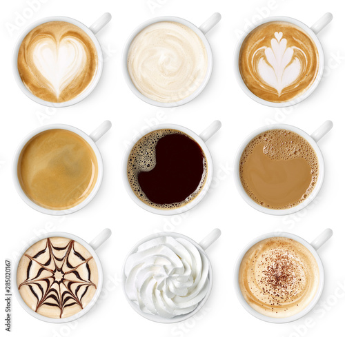 Foto Set of different coffee types