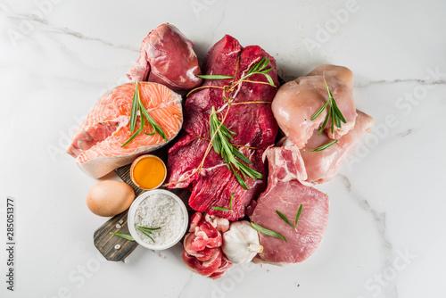 Obraz na płótnie Carnivore diet background