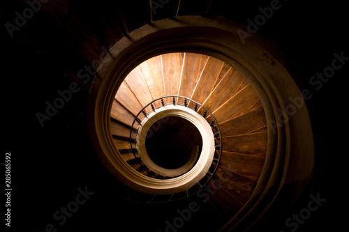 Carta da parati Spiraled staircase in catherdal in Sedlec, Kutna Hora, Czech Republic