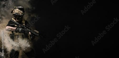 Fotografie, Obraz special forces soldier , military concept