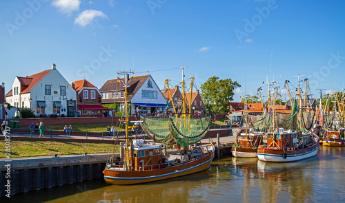 Fotografia, Obraz Greetsiel Ostfriesland Hafen Kutter