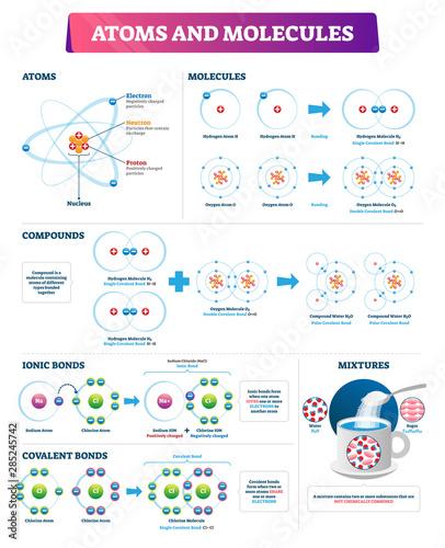 Fotografia Atoms and molecules vector illustration