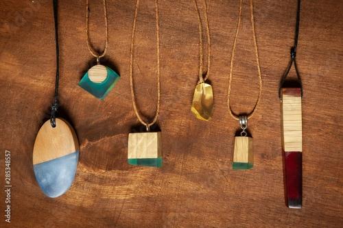 Biżuteria z żywicy i drewna #4